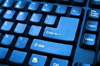 Espacio de trabajo establecido teclado internet