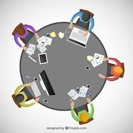 Espacio de trabajo para trabajar en equipo