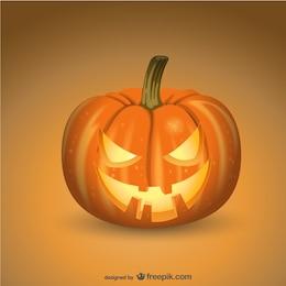 Espeluznante calabaza de Halloween