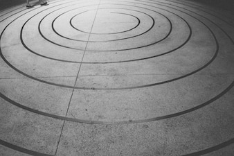 Espiral en el piso