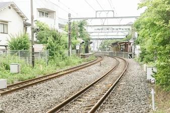 Estación de tren japonesa