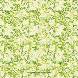 Estampado de acuarela de hojas verdes