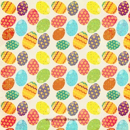 Estampado de huevos de pascua coloridos