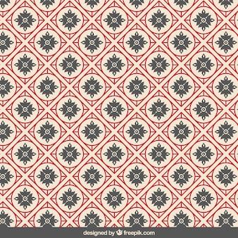 Estampado geométrico en estilo chino