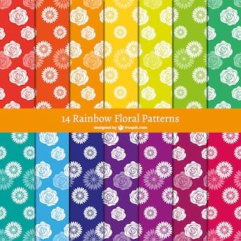Estampados de flores de colores