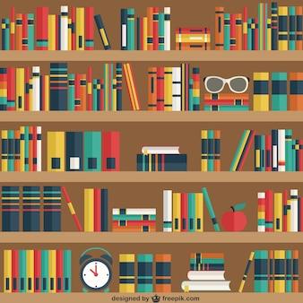 Estantes con los libros