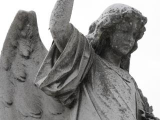 estatua del ángel, nadie