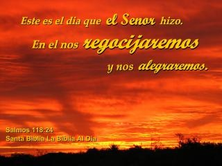 Este es el texto español El Día Que El Señor