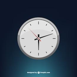 Estilizada mínima vector reloj