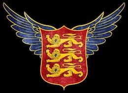 estilizados armas reales de Inglaterra grunge