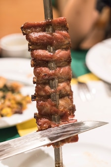 Estilo brazillian de la carne
