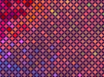 Estilo retro color de fondo conjunto vector tecno