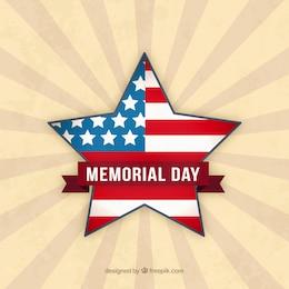 Estrella con la bandera de EE.UU. para el día de los caídos