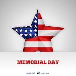 Estrella estadounidense para el día de los caídos