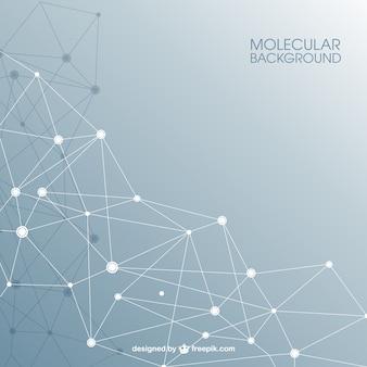 Estructura molecular de fondo abstracto