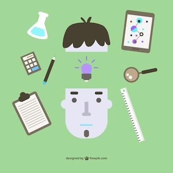 Estudiante aprendizaje vectorial libre