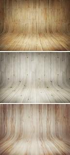 Etapas de madera curva fondos
