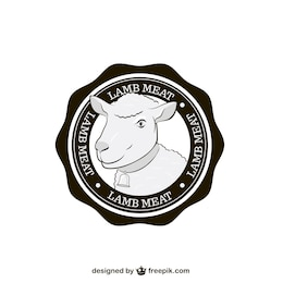 Etiqueta de carne de cordero
