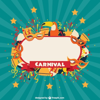 Etiqueta de celebración de carnaval