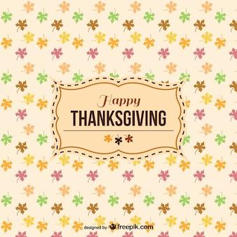 Etiqueta de feliz Acción de Gracias con patrón de fondo