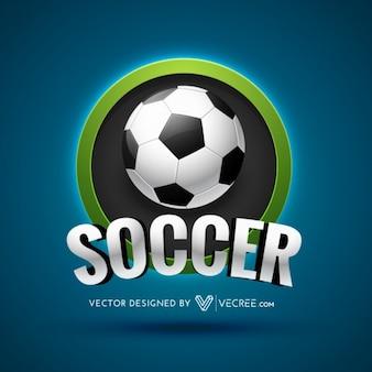 Etiqueta de fútbol con la bola realista