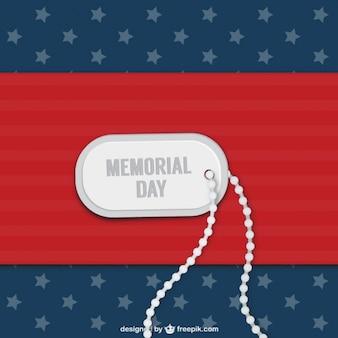 Etiqueta de identificación del día de los veteranos