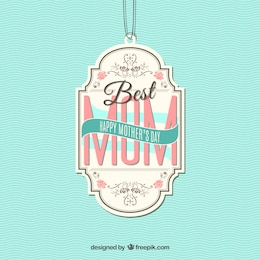Etiqueta de la mejor madre