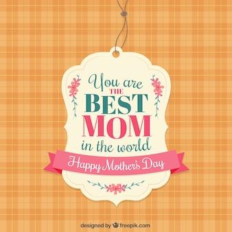 Etiqueta de la mejor mamá