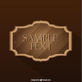 Etiqueta de madera vintage