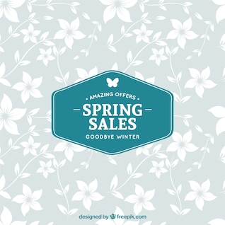 Etiqueta de rebajas de primavera