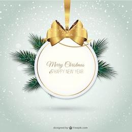Etiqueta elegante de feliz Navidad
