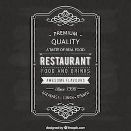 Etiqueta restaurante Vintage