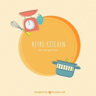 Etiqueta retro de la cocina