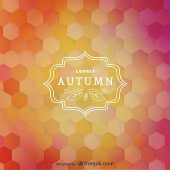 Etiqueta vectorial de otoño