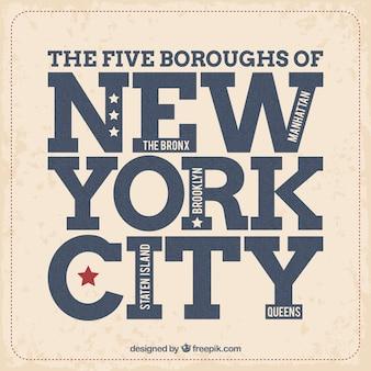 Etiqueta vintage de New York