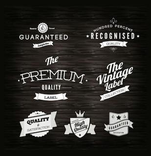 Etiquetas - Calidad de la vendimia vector set etiqueta
