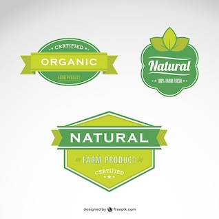 Etiquetas de alimentos naturales