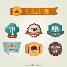 Etiquetas de comida y bebida