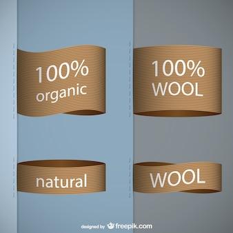 Etiquetas de lana orgánica