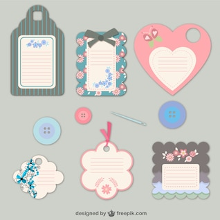 Etiquetas de moda florales