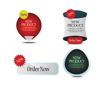Etiquetas de nuevos productos