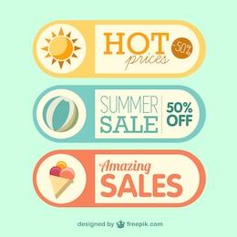 Etiquetas de oferta de verano