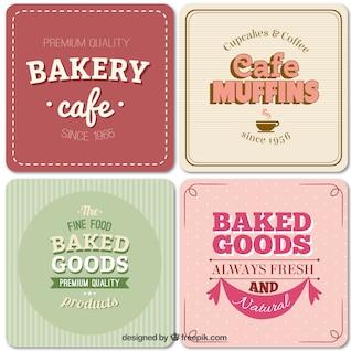 Etiquetas de panadería en el estilo vintage