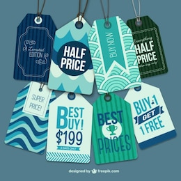 Etiquetas de precios y ofertas