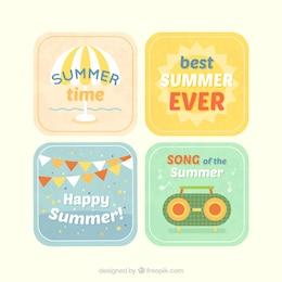 Etiquetas de verano paquete