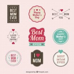 Etiquetas del día de la madre