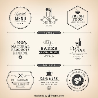 Etiquetas del restaurante