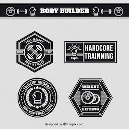 Etiquetas entrenador del cuerpo