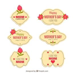 Etiquetas para el día de la madre