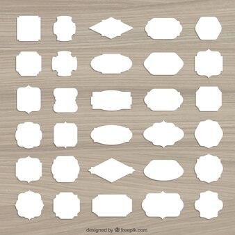 Etiquetas retro blancas